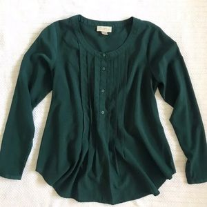Teal tunic blouse